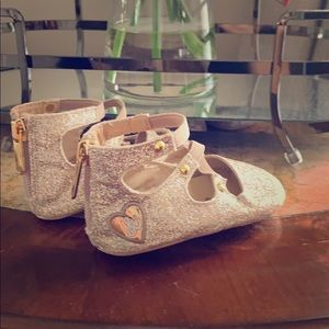 Other - Worn once Sam Edelman baby glitter gold shoes